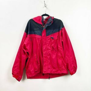 🍀Columbia Red Black Hooded Jacket Coat